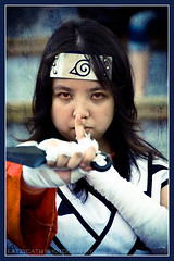 Cosplay: red-eyed supergirl (eatzycath) Tags: portrait anime texture singapore naruto redeyes outlandish nikond200 playacting 18200mmf3556gvr kurenaiyuhi cosplaymatsuri