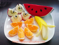 Felt Food Fruits Slices (Lit'l Brown Bird) Tags: feltro filz vilt feltri feltre fieltro filt kee pls feltplayfoodchildrenplushpretendhandmadeetsyfruits merasa klobuevina mendonin