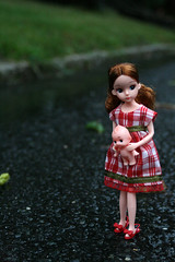 (sub diversity (old account)) Tags: street red baby storm wet grass rain sarah shoe shoes doll alone daughter mini 2nd flats soak tropical heels rement warnings generation reproduction slippers licca soaking soaked kewpie palin