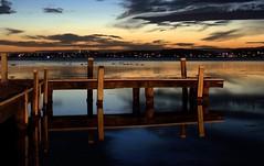 Last shot of the night (Lady Jayne ~) Tags: sunset lake reflection night pier australia explore nsw thumbsup twothumbsup bigmomma supershot unanimous challengeyouwinner squidsink pfogold friendlychallenges