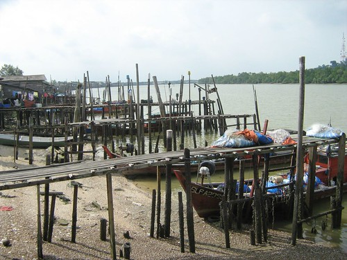 Rows of boats at Kuala Selangor