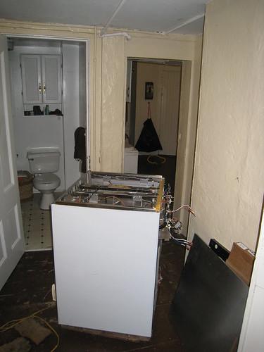 Trying to get stove through door