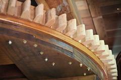 Wooden Mechanism inside the Wind Mill (Ricardo Carreon) Tags: wood brazil windmill brasil madera molino sp madeira mechanism moinho holambra engranaje molinodeviento moinhodevento engranes povosunidos