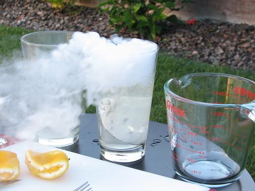 Dry Ice Lemonade