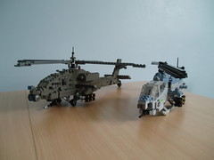 Attack helicopters (Mad physicist) Tags: usmc army apache lego military helicopter 136 usarmy usmarines ah64 ah1w supercobra