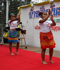 Little students dancing