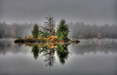 Out of the Mist (pic_snapper) Tags: mist lake ontario canada reflection canon wide sigma reflexions 1020 hdr bala medoralake 40d diamondclassphotographer flickrdiamond platinumheartaward vosplusbellesphotos tgam:photodesk=reflection2013