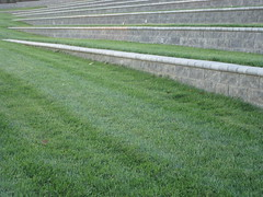Grassy bleachers (Volleyhart) Tags: sunset blueridge blacksburgva southwestva vtbaseball duskcolors