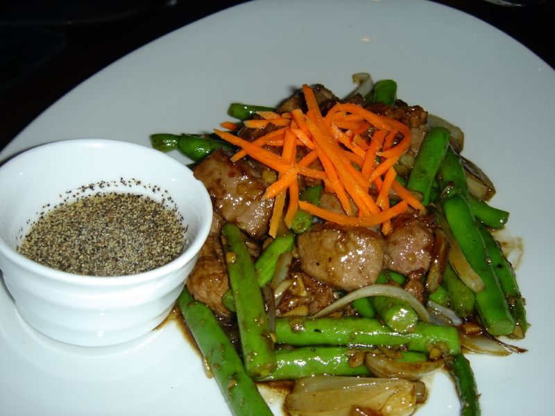 Cubed Filet Mignon with Blue Lake Green Bean