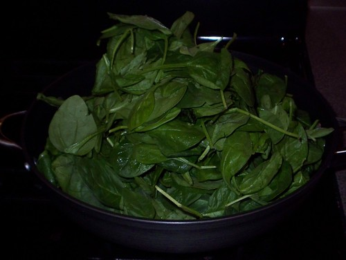fresh spinach for rotolo