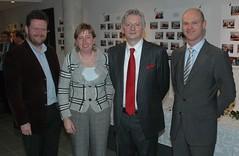 Frank Smeets, Inge Verheyen, Steve Stevaert en Raf Drieskens