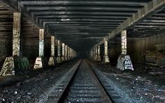 Underground Railroad (paul drzal) Tags: philadelphia underground graffiti traintracks tags diminishing readingviaduct undergroundrailroad pennsylvaniarailroad eskepe hiddenplacesinphiladelphia friendsoftherailyard paulvanmeter