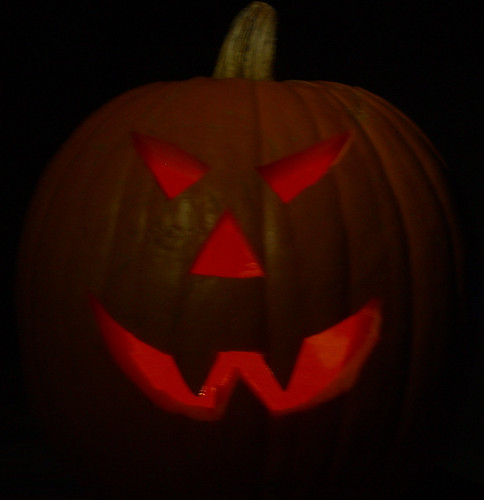 Jack-O-Lantern (with clever lighting)