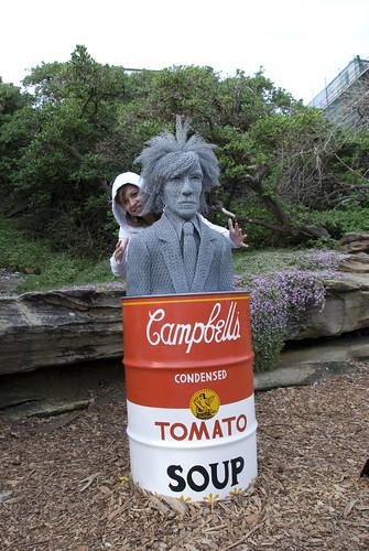 Andrea con Andy Warhol