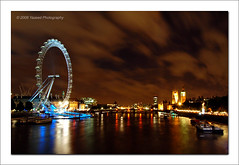 London (Yazeed) Tags: city uk blue red summer vacation england sky cloud reflection green london colors night d50 boats lights amazing nikon europe shot unitedkingdom londoneye bigben august 2008 thamesriver countyhall yazeed mywinners aplusphoto nikonflickraward nikonflickraward50mostinteresting