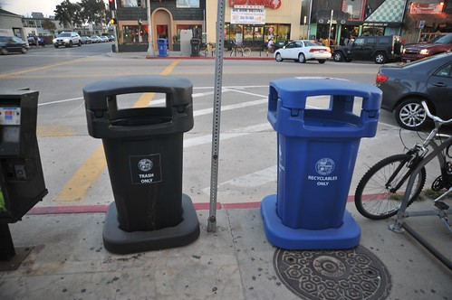 Trash Cans in Venice Beach
