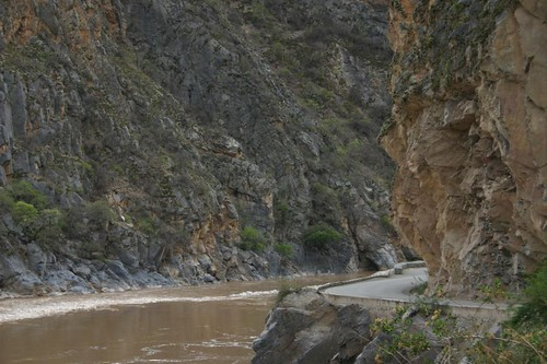 Cool river valley cycling west of Cusco.