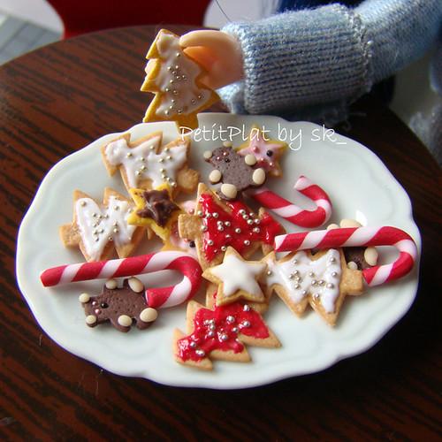 Miniature Food Christmas Cookies