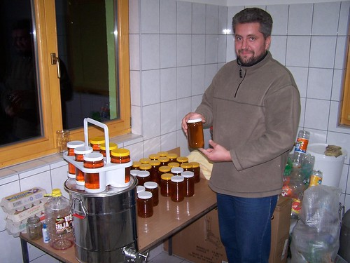 Zlatko with his honey