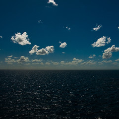 One Perfect Sea (nosha) Tags: ocean blue sea sky white seascape reflection water beautiful beauty clouds nikon heaven peace pacific oz australia pacificocean reflect cotton southpacific nikkor 2008 d300 18200mm seablue nosha australia2008