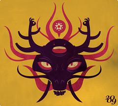 reaching nirvana (medialunadegrasa) Tags: dragon juan nirvana buddha carlos illustrator vectores