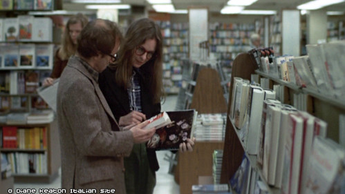 Alvy and Annie at the bookstore in Annie Hall