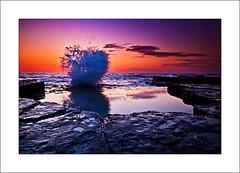 A new beginning (The Sage of Shadowdale) Tags: ocean seascape beach water sunrise d50 landscape dawn early rocks waves australia tokina nsw 1224mmf4 turimetta