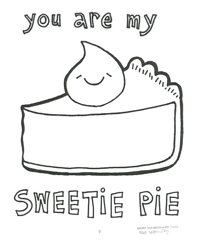 Would you like to color this very tasty slice of pie?