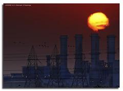 Global Warming (DanielKHC) Tags: sunset sun plant digital interestingness nikon dubai industrial power uae explore burning pollution fp frontpage hdr blending d300 interestingness40 tonemapped 5exp danielcheong danielkhc explorefp nikkor70300mmf4556vr explore28nov08 gettyimagesmeandafrica1