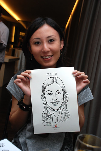 Caricature live sketching for Far East Organisation SPH Media Night The Miro 2