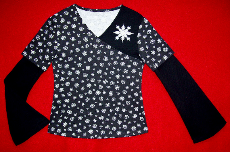 Willow's Snowflake Crossover Top
