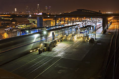 Amtrak 8th Street service [Explored] (K-Szok-Photography) Tags: night outdoors losangeles nightshot trains transportation 2470l