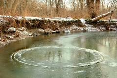 Mysterious Crop Circle (Thankful!) Tags: ontario ice nature water creek stream urbannature mysterious brook mississauga phenomenon rattraymarsh sheridancreek creekcircle