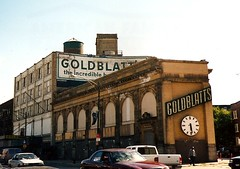 former Goldblatts, Uptown (scan of 2002 photo!) (katherine of chicago) Tags: signs chicago abandoned uptown stores scannedphoto goldblatts