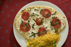 Ricotta Pizza and Couscous