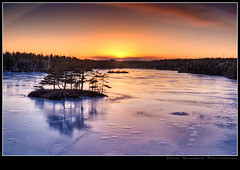 Still Frozen??!! (Dave the Haligonian) Tags: sunset lake ice island evening frozen nikon novascotia dusk halifax isle hdr sigma1020mm d90 armdale waterreserve copyrightallrightsreserved stillfrozen davidsaunders davethehaligonian dsc759234