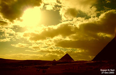 Pyramids of Giza, Cairo, Egypt (GOPAN G. NAIR [ GOPS Photography ]) Tags: photo pyramid egypt cairo gopan gopsorg gopangnair