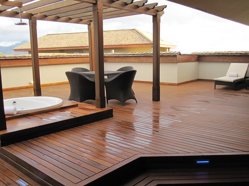 1 of 2 roof decks in our presidential suite. This one has a jacuzzi.