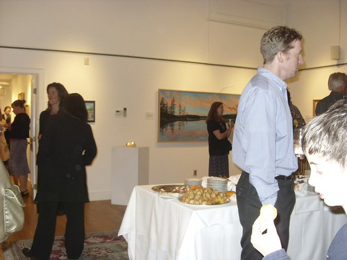 Kevin Raines art opening in Saratoga Springs