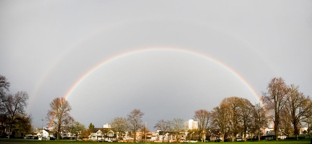 double-rainbow panorama