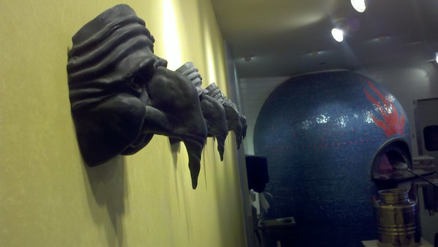 Photo of Pulcinella masks at Northeast Minneapolis Punch Pizza
