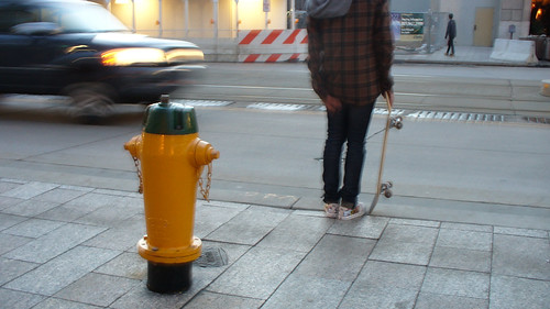 skateboarder with hydrant