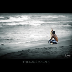 The Lone Boarder (Soul101) Tags: sea man beach sand waves alone philippines surfing pidoy bagasbas skimboarder daet nikond40 soul101 camsnorte