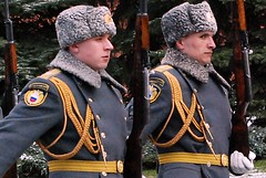 March (ZenDane) Tags: look rifles marching guards russian furhat goldbraid suspcious greyuniforms