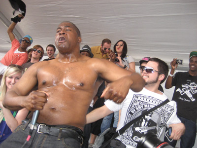 david banner at the fader fort (note spank rock on the left)