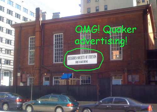 Brooklyn Quaker Meeting Sign