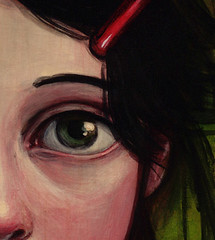 Sneak a peek (verpabunny) Tags: painting crop preview sneak kellyvivanco thinkspacegallery uncommongardens