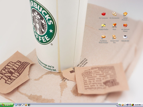 Coffee work desktop