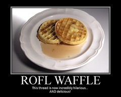 The ROFL Waffle (Ble Star) Tags: poster fdsflickrtoys funny tasty meme parody demotivator waffle motivational rofl