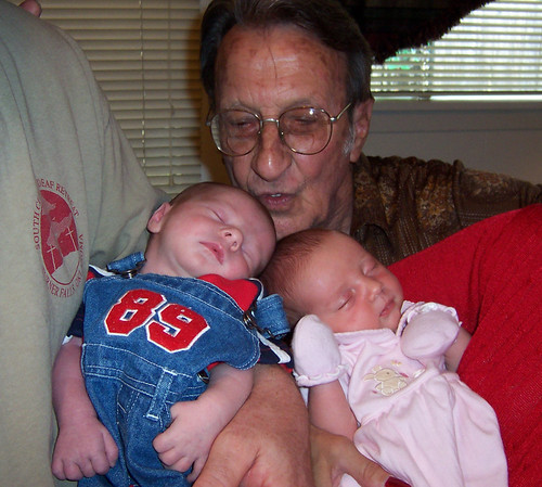 With Great-grandpa Jimmy